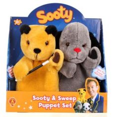 Buy Golden Bear Sooty and Sweep Puppet Set at Argos.co.uk - Your Online Shop for Teddy bears and interactive soft toys, Pre-school.