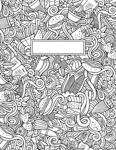 journal cover doodle binder cover coloring pages for adults journal covers Tumblr Coloring Pages, Coloring Book Pages, Coloring Sheets, Notebook Covers, Journal Covers, Back To School Life Hacks, Zentangle, Doodle Coloring, Cover Template