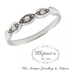 VINTAGE INSPIRED DELICATE ELLIPSE BAND RING. This Art Deco inspired wedding band can be customized to include any combination of diamonds and/or gemstones such as sapphires, rubies, emeralds, birthstones, anniversary stones, etc & can be crafted in 9ct or 18ct white, rose or yellow gold, platinum or sterling silver. Visit us at www.klepners.com.au