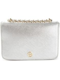 9dd955f93515 Shop Tory Burch  Robinson  chain shoulder bag in Dell oglio from the world s