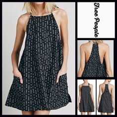 """Free People Slip Dress FREE PEOPLE Slip Dress Black Print Trapeze Pockets   * A-Line silhouette & oversized fit   * Square neckline & racer back w/self tie   * Pullover style & an incredibly relaxed fit   * Gathered side details & 2 front pockets; measures about 35"""" long  * Lightweight fabric   ***This dress is an oversized fit Fabric: 100% cotton  Color: Black Combo Print  Item: 8265  No Trades ✅ Fair Offers Considered*✅ *Please use the blue 'offer' button to submit an offer. Free People…"""