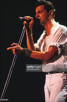 Dave Gahan as 'Depeche Mode' singer in Paris, France on October 23, 1990.