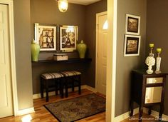 Indoor : Foyer Decorating Ideas - Make your Home more Attractive Entryway' Foyer Pictures' Foyer Design and Walking Time' Entryways' Room Decorating or Shoes' Modern Entryway Furniture' Indoor - Best Source of DIY Home Improvement Foyer Table Decor, Entryway Decor, Entryway Ideas, Entrance Foyer, Entrance Ideas, House Entrance, Entryway Paint, Church Foyer, Apartment Entrance