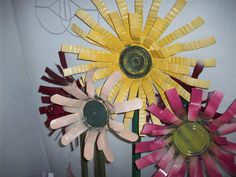 Tin can flowers