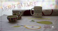 modern appliqué tea towels tutorial