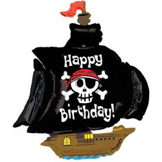 Shiver me timbers!!  It's a JUMBO Happy Birthday Pirate Ship balloon!  #kidsparty #partytheme #partyideas #foilballoon #balloons #event #styling #decorate #partyshop #partysupplies #inspiration #photobooth #photography #letthekids birthdayparty #cute #partydecor #emoji #etsy #instashop #firstbirthday #bridalshower #babyshower #fun #bandofun #littlebooteekau #pirate #littleboys #pirateparty