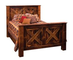 rustic bed frame country bed frame reclaimed wood bed frame barnwood bed fram - Country Bed Frames