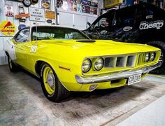 from @aarsteve -  1971 Plymouth Gran Coupe Cuda 383 white interior This car was burnt orange originally now curious yellow. When I bought the car the man made me pay .01 penny more. That way if anyone asked it was more than the bigger number we agreed on. They just didn't know how much more.  #plymouth #cuda #baracuda #pin #twitter - #regrann