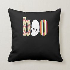 Halloween Boo Cute Contemporary Boo With Ghost Throw Pillow - pillows home decor diy cyo pillow design Halloween Pillows, Halloween Boo, Happy Halloween, Halloween Festival, Festival Party, Cute Ghost, Fox Cookies, Diy Halloween Decorations, Woodland Party