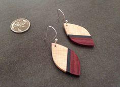 Handmade Maple & Purple Heart Earrings