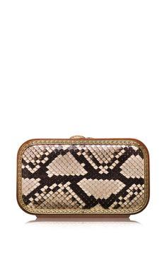 Python Square Bag In Natural by Katrin Langer for Preorder on Moda Operandi