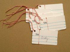 Anthro Penmanship Gift Tags » Flamingo Toes <3