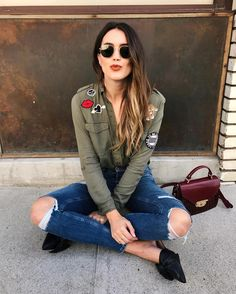 Having an olive obsession for fall and found this top while searching for Halloween accessories at @HM so many cute options right now! #HMHalloween #ad