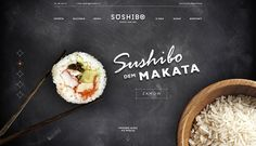 Sushi web-design on Behance