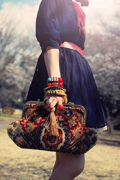 sailor girl who waits Sakura to bloom by tinytoadstool by shan shan, via Flickr