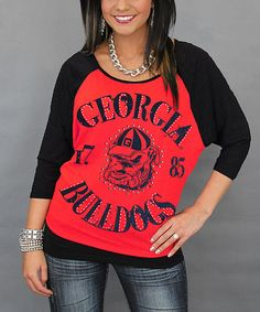 This Georgia Bulldogs Vintage Dolman Raglan Tee by Gameday Couture is  perfect!