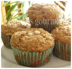 Le palais gourmand: Muffins aux pommes et fromage cottage Breakfast Muffins, Strawberry Banana, Simple Pleasures, Brunch, Waffles, Nom Nom, Biscuits, Sandwiches, Ice Cream