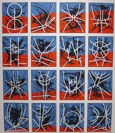 Jimmy  Ernst - Hieroglyphics, 1969