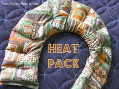 DIY microwavable heat pack. *with free pattern!*