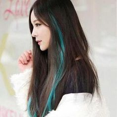 35 Gorgeous Peekaboo Highlights To Enhance Your Hair Hair inspiration – Hair Models-Hair Styles Blue Hair Streaks, Blue Hair Highlights, Peekaboo Highlights, Underlights Hair, Hair Extension, Hair Color For Black Hair, Hair Colour, White Hair, Dyed Hair