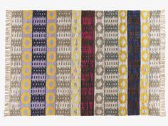 HEERDEN Large multi-coloured cotton flat weave rug 170 x 240cm