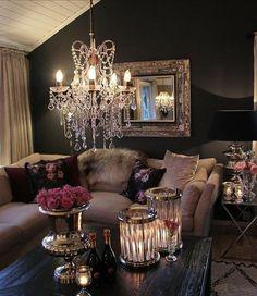 Glam Living Room, Living Room Decor Cozy, Living Room Interior, Home Interior Design, Home And Living, Interior Decorating, Living Rooms, Casa Magnolia, Living Room Inspiration