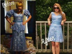 80′s Prom Dress Refashion