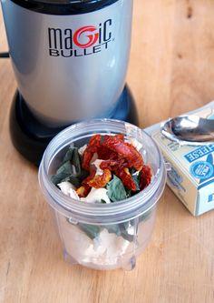 Sun-Dried Tomato Basil Cream Cheese - Magic Bullet