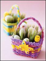 Diy easter basket easter baskets basket ideas and produce stand making mini easter baskets negle Images