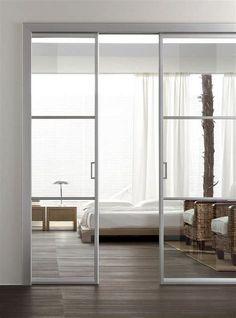 106 Beautiful Bedroom Decorating Ideas Modern Bedroom Ideas Minimalist Bedroom B. Bedroom Furniture Design, Modern Bedroom Design, Bedroom Decor, Bedroom Ideas, Flur Design, Sliding Doors, The Doors, Garage Doors, Internal Doors