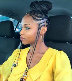 85 Box Braids Hairstyles for Black Women - Hairstyles Trends Box Braids Hairstyles, African Hairstyles, Hairstyle Ideas, Wedding Hairstyles, 1920s Hairstyles, Hairstyle Braid, Fashion Hairstyles, Protective Hairstyles, Bun Braid