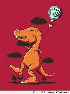 T-rex holing gas balloon. Finally something T-rex can do
