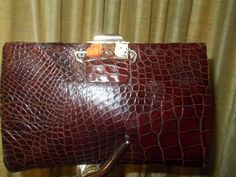 lovely alligator clutch with bakelite scotties