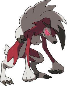 Pokémon Sun & Moon - team member (8) Lycanroc/Lykan midnight