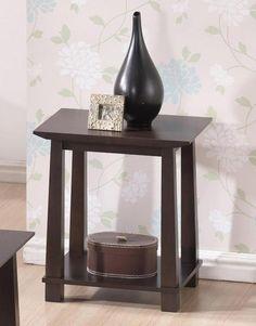 Havana Brown Wood Modern End Table | Interior Express