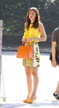 Blair Waldorf from Gossip Girl  wearing Stella McCartney Floral Print Skirt
