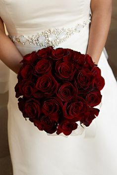 red rose bridal bouquet wedding by lara.white, via Flickr
