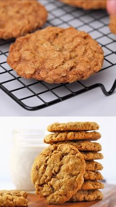 Chewy Vegan Oatmeal Cookies with the perfect crispy outside and melt-in-your-mouth caramel center. Ready in just 20 minutes for a quick and delicious sweet treat. Vegan Foods, Vegan Snacks, Vegan Dishes, Vegan Recipes, Cooking Recipes, Vegan Oatmeal Cookies, Oatmeal Cookie Recipes, Quick Vegan Desserts, Vegan Yogurt