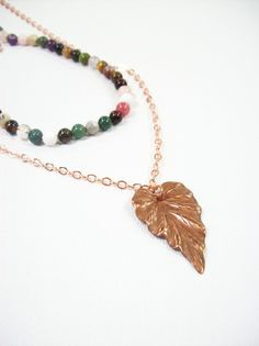 A delicate yet stylish necklace that is completely on-trend.   The shorter length features mixed fancy jasper…