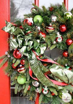 festive wreath....