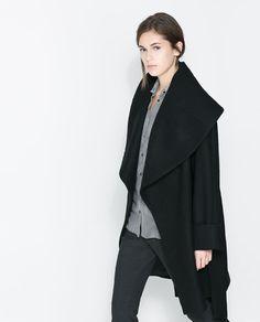 Image 2 of WOOLLEN WRAPAROUND COAT from Zara. (I want i want))