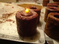 Robin's Floral Designs: Grungy Candles