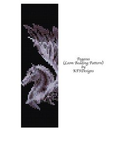 Loom Beading Pattern Pegasus Buy 2 Patterns get a 3rd Pattern FREE by KFSDesigns, $6.50