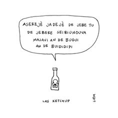 Las ketchup. Asereje (Ketchup Song). 365 illustrated lyrics project, Brigitte Liem.
