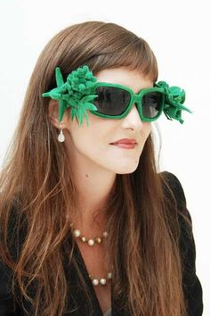 Emilie Voirin at MUDAM Luxembourg Presents Recycled Sunglasses #glasses trendhunter.com