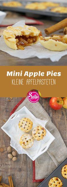 Knusprige kleine Apple-Pies, die man von der Hand essen kann. Ideal auch zum Mitnehmen oder für Partys! Fingerfood!