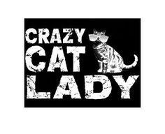 crazy cat lady Tshirts tee shirt t-shirt