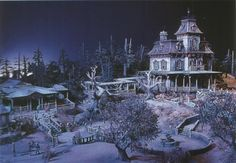 Maquette de l'attraction Phantom Manor