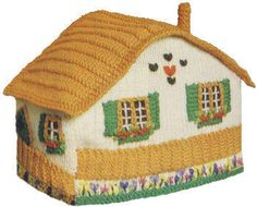 Country Cottage or Chalet Tea Cozy Vintage Knitting Pattern for download