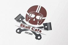 Check out Skull Cafe Racer Logo by OrangeMango on Creative Market